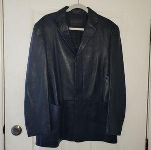 NWOT Men's Donna Karen Leather Blazer